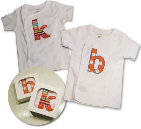 Personalized Onesies for Baby Kate & Baby Ben