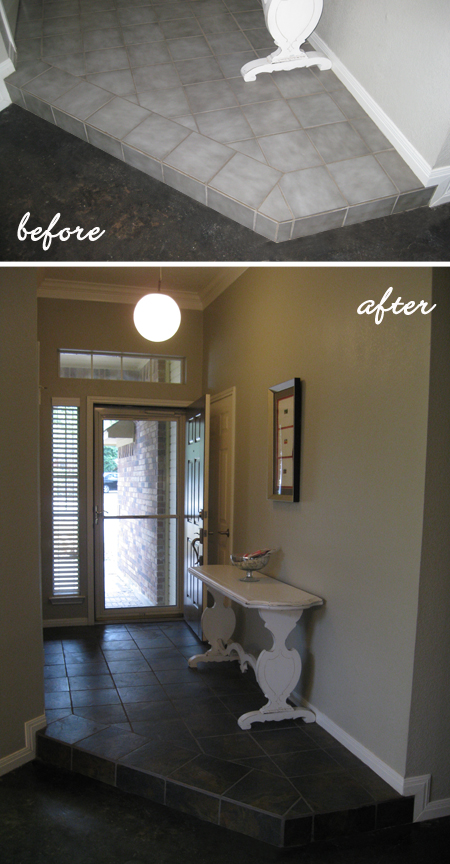 Entry Tile: Before and After