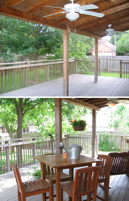 Back Porch: Before & After
