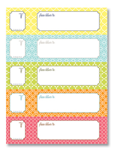 Free wrap-around address label template
