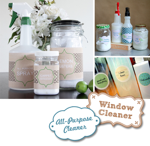 Free Labels for Homemade Cleaning Products