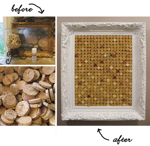 Recycled Wine Cork Bulletin Board