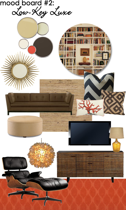 Family Room Mood Board: Low-key Luxe
