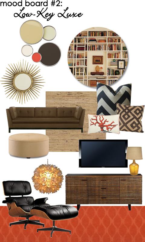 Family Room Mood Board: Low-key Luxe