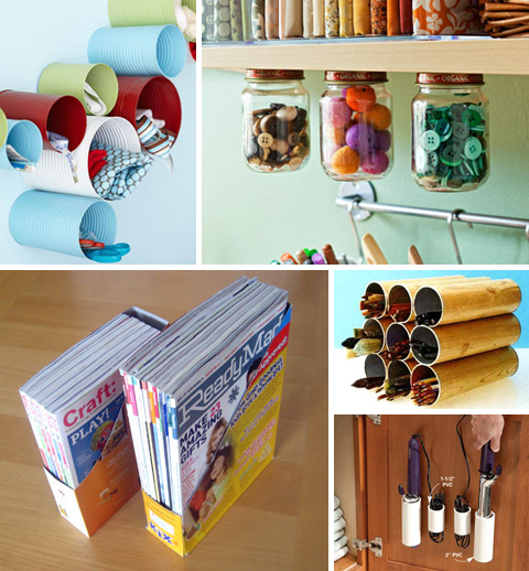 Organize with Recycled Containers