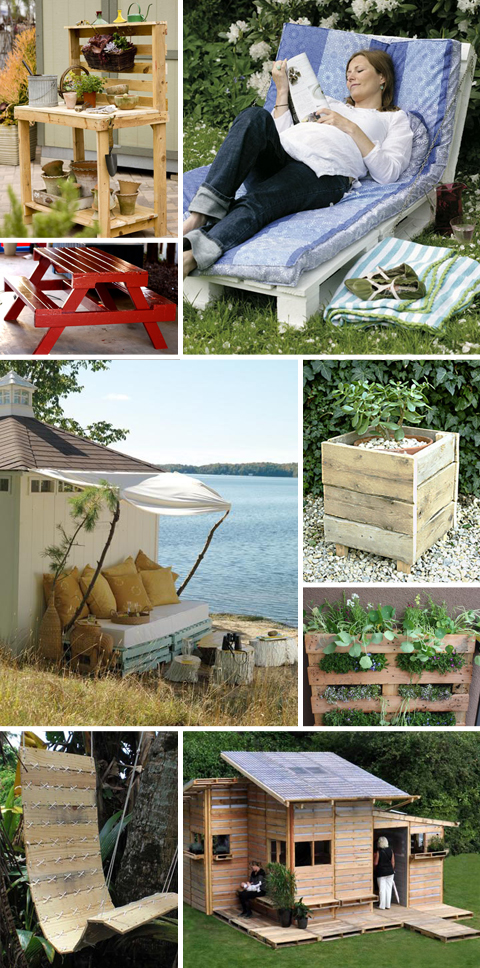 Recycled Wood Shipping Pallet Projects for Outdoors