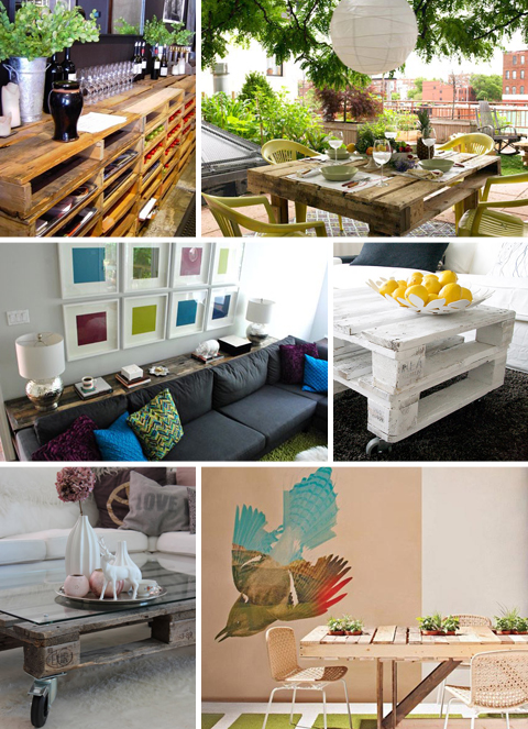 Recycled Wood Shipping Pallet Tables
