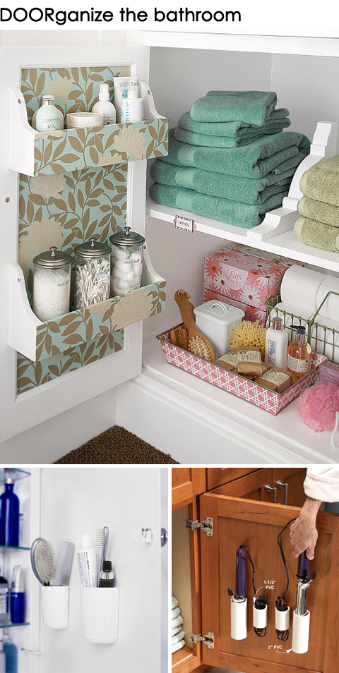Get DOORganized: Ideas for Organizing the Back of a Bathroom Door