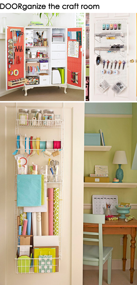 Get DOORganized: Ideas for Organizing the Back of a Craft Room Door