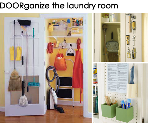 Get DOORganized: Ideas for Organizing the Back of a Laundry Room Door