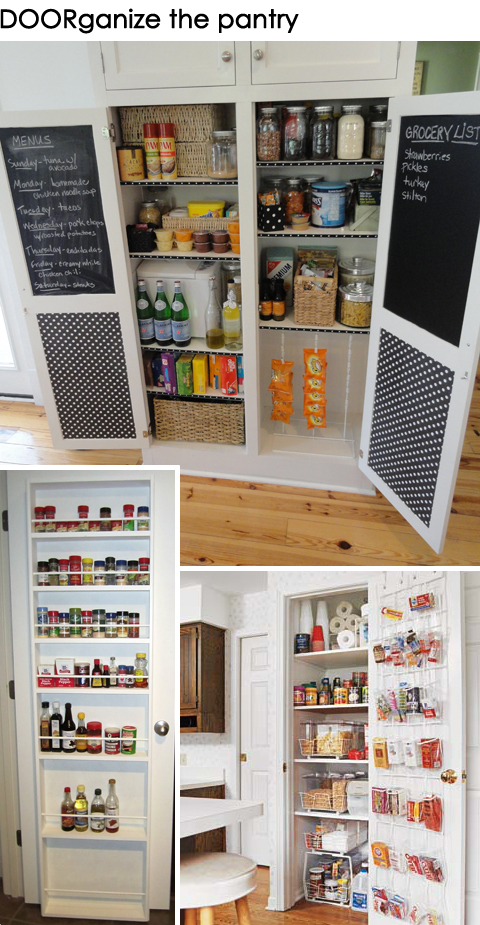 Get DOORganized: Ideas for Organizing the Back of a Pantry Door