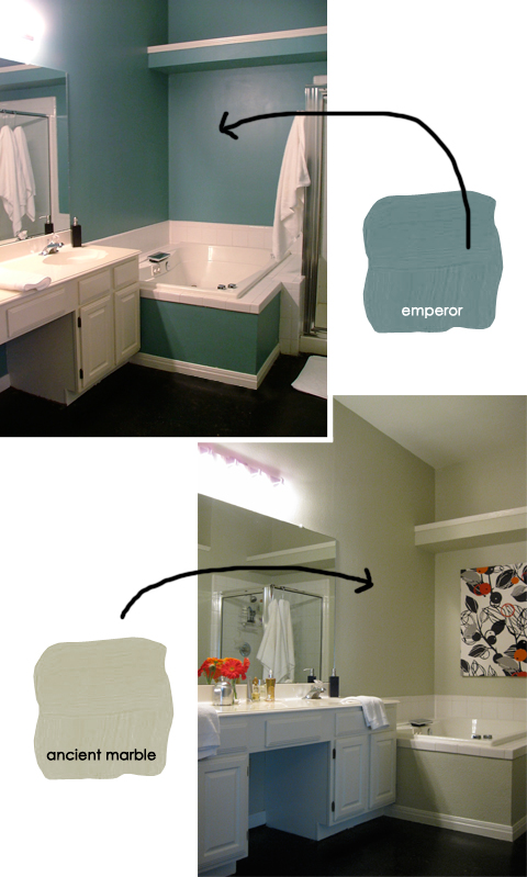 Master Bathroom Color Palette