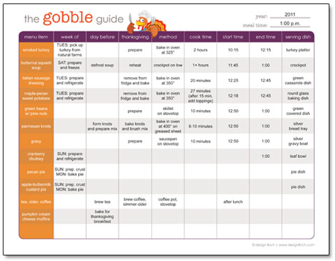The Gobble Guide: Free Printable Thanksgiving Planner