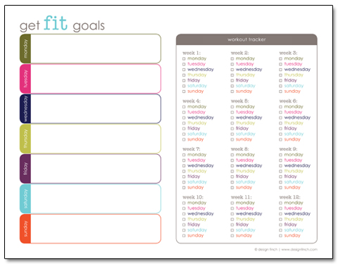 Get Fit Goals: Free Exercise and Fitness Printable Planner