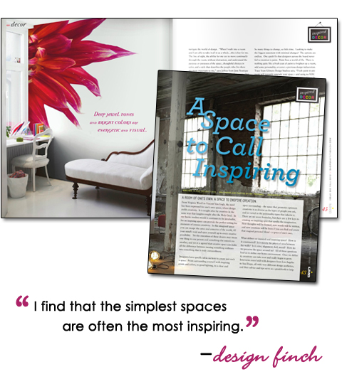 Inspiring Spaces Article – Fall 2012