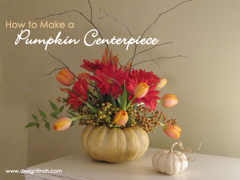 How to Make a Pumpkin Centerpiece