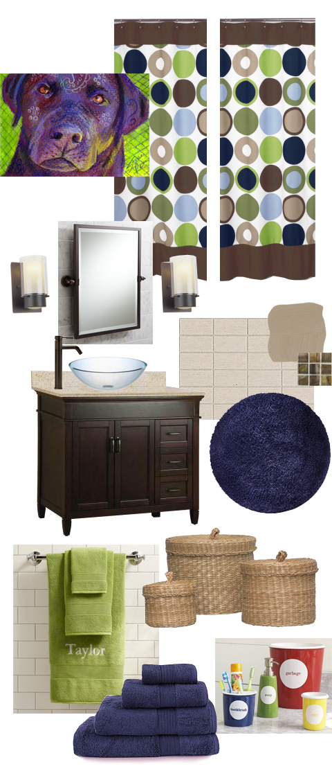 Guest Bath Mood Board
