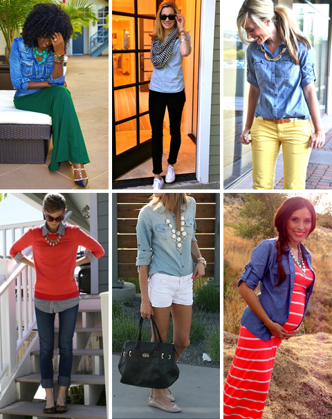 Denim Shirt Outfits for Spring
