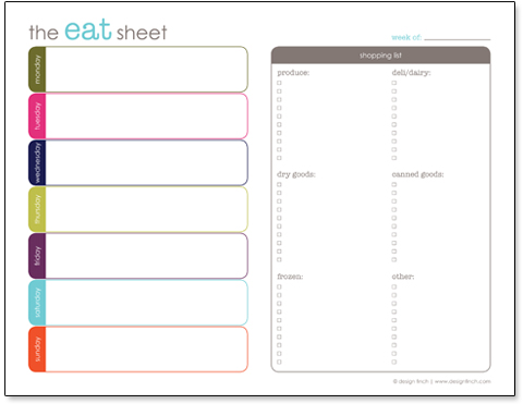 Free Printable Menu Planner And Shopping List  Free Menu Planner Template