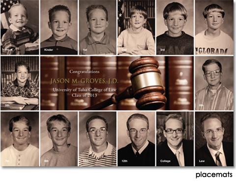 Law School Graduation Brunch Placemats