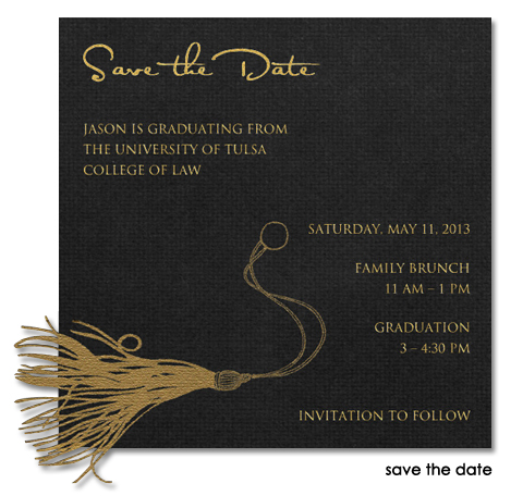 Law School Graduation Save the Date