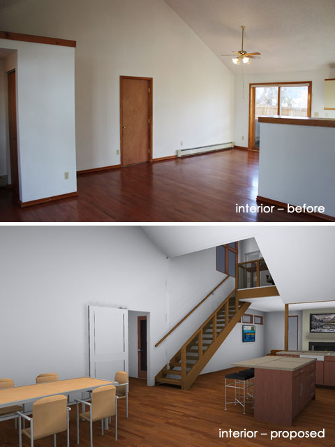 Interior – Before and Proposed