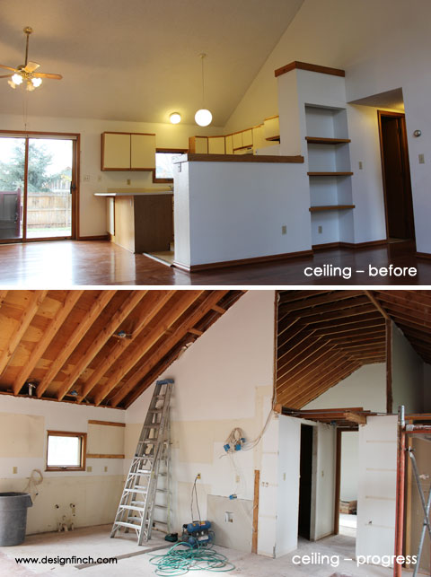 Home Remodel – Ceiling Before and After