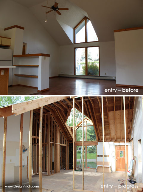 Home Remodel – Entry Before & Progress