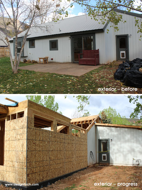 Home Remodel – Exterior Before & Progress