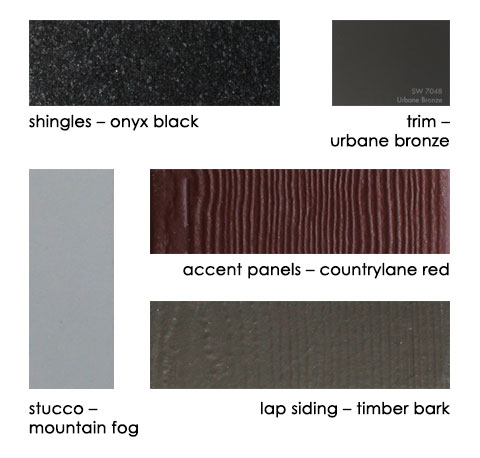 Home Remodel – Exterior Finishes Color Palette