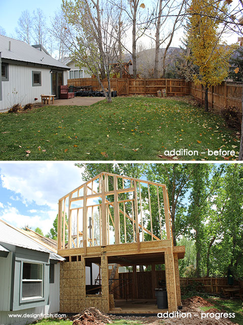 Home Remodel – Addition Before & Progress