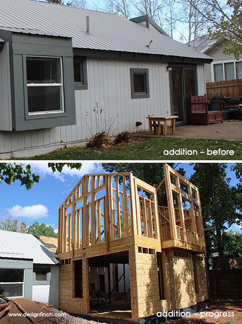 Home Remodel – Addition Before and Progress