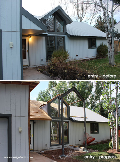Home Remodel – Entry Before and Progress