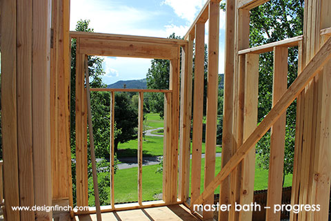 Home Remodel – Master Bathroom Framing