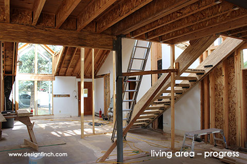 Home Remodel – Living Area Construction Progress