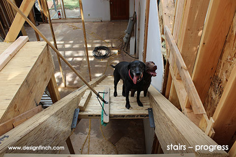 Home Remodel – Stair Construction Progress
