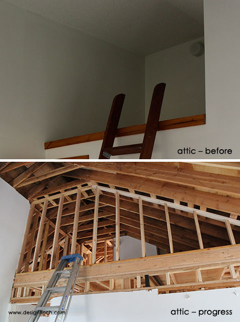 Construction Before & Progress – Attic