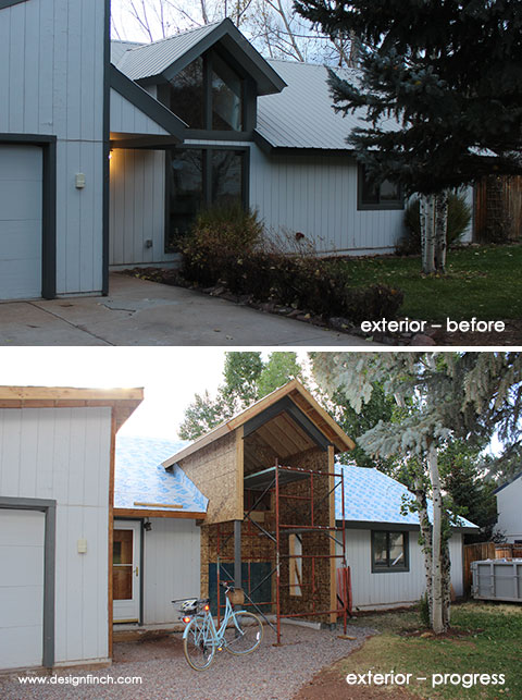 Construction Before & Progress – Exterior Entry