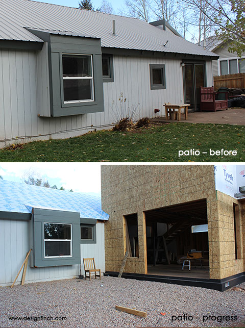 Construction Before & Progress – Patio