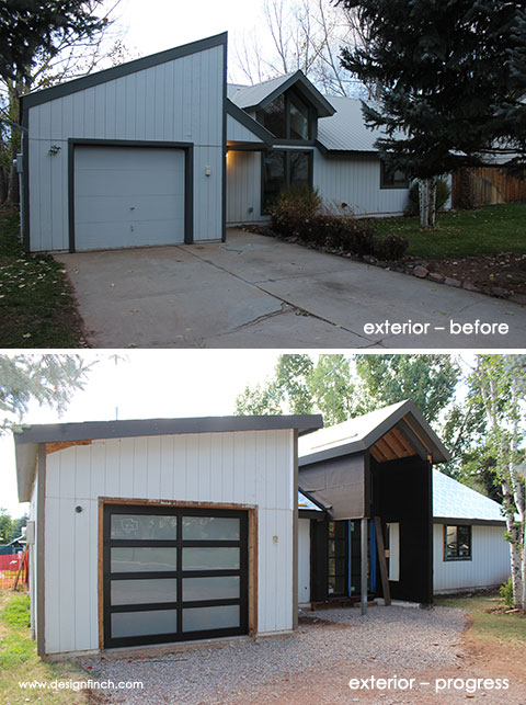 Home Remodel – Exterior Before and Progress
