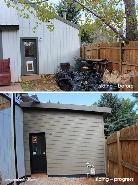Home Remodel – Siding Before and Progress