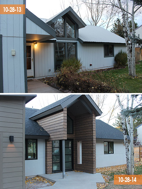Front Exterior –Then and Now