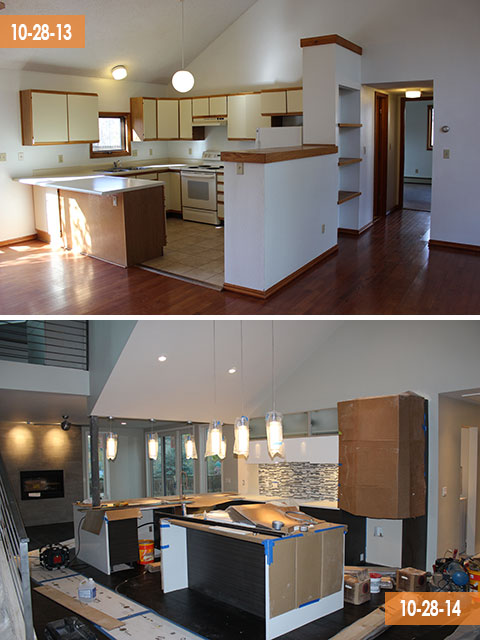Kitchen –Then and Now